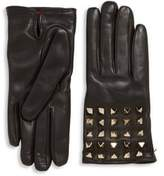 Valentino Garavani All Over Studs Leather Gloves