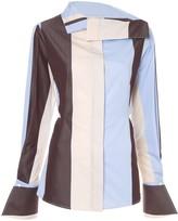 Palmer Harding Palmer//Harding asymmetric striped shirt