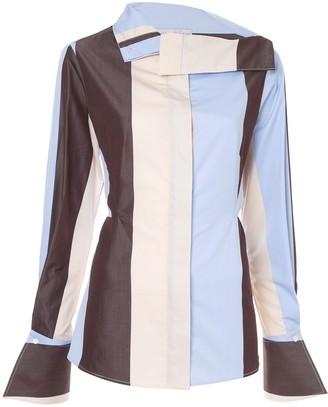 Palmer Harding Asymmetric Striped Shirt