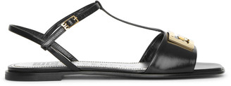 Givenchy 4G black T-bar sandals