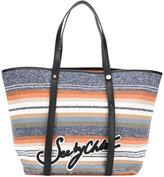 See by Chloe striped logo shopper - women - Cotton - One Size