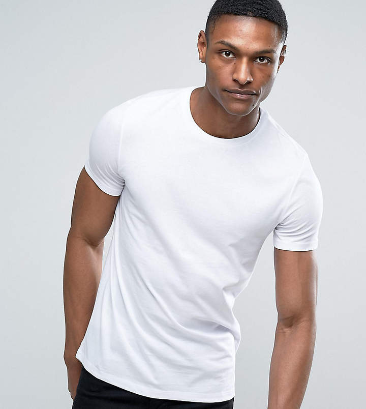 Asos Design DESIGN Tall t-shirt with crew neck in white
