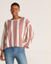 Alysi Striped Knit Top