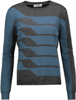 Jil Sander Two-tone wool-blend sweater