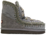 Mou boots with crystal flower embellishment