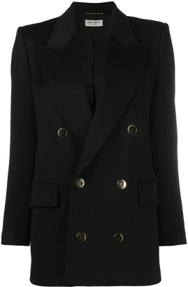 Saint Laurent Double-Breasted Long Blazer