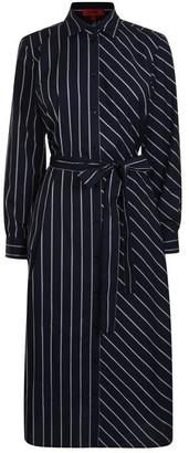 HUGO BOSS Striped Shirt Dress