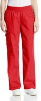 Cherokee Women's Petite Scrubs Flexibles Mid-Rise Knit Waist Pull-On Missy Fit Pant