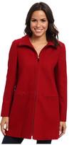 Larry Levine Zip Front Wool Coat