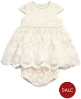 Mamas and Papas Baby Girls Embroidered Lace Dress