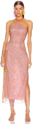 Jacquemus La Robe Lavandou in Pink & Orange   FWRD