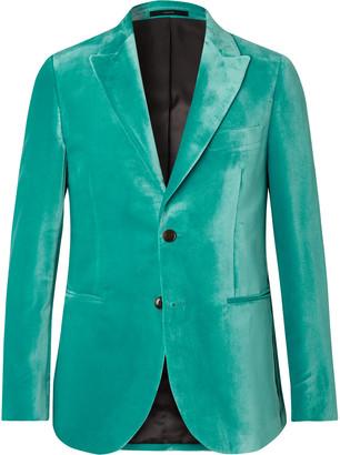 Paul Smith Burgundy Slim-Fit Velvet Tuxedo Jacket