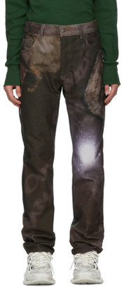 Serapis Brown Printed Jeans