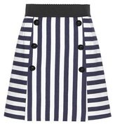 Dolce & Gabbana Striped Cotton Miniskirt