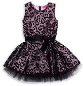 Betsey Johnson Girls 7-16 Leopard Print Sleeveless Dress