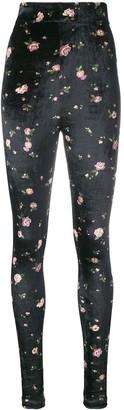 Philosophy di Lorenzo Serafini floral skinny trousers