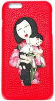 Dolce & Gabbana Family patch iPhone 6 Plus case - women - Leather - One Size