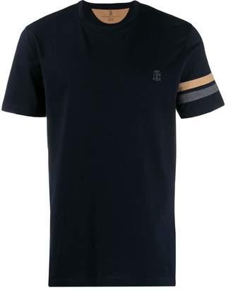 Brunello Cucinelli striped sleeve T-shirt