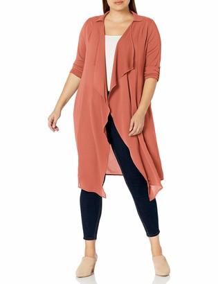 Forever 21 Women's Plus Size Drape-Front Jacket