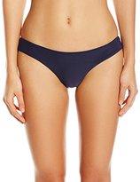 Vix Women's Solid Indigo Buzios Bikini Bottom