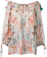 Roberto Cavalli floral print blouse