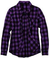 FUNOC Men's Slim Fit Long Sleeve Plaid Flannel Button Down Shirts