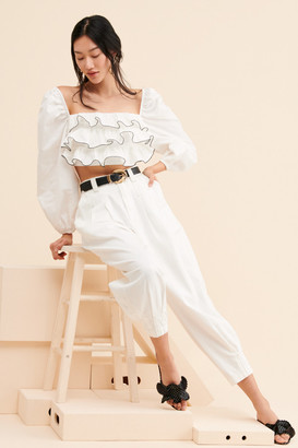 C/Meo Esteemed Ruffle Crop Top