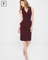 White House Black Market Petite Asymmetric-Peplum Sheath Dress