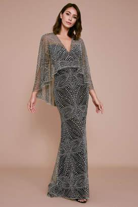 Tadashi Shoji Cypress V-Neckline Gown