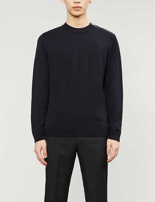 The Kooples Zip-detail merino wool jumper