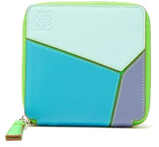 Loewe Paula's Ibiza - Puzzle Zipped Leather Wallet - Blue Multi