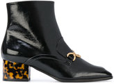 Stella McCartney contrast heel ankle boots - women - Polyurethane/Artificial Leather - 36