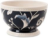 Fitz & Floyd Stoneware Bristol Indigo Floral Soup Bowl