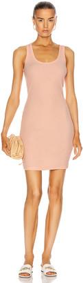 John Elliott Cotton Rib Dress in Fluorescent Peach | FWRD