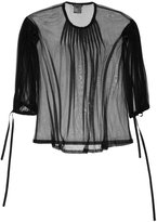 Ann Demeulemeester sheer pleated blouse - women - Silk/Nylon - 36