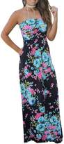 YACUN Women's Summer Strapless Pocket Maxi Beach Cocktail Dress XL