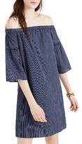 Madewell Women's Off The Shoulder Bell Sleeve A-Line Dress