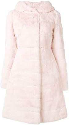 Liska hooded midi fur coat