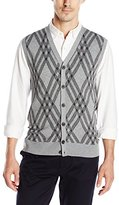 Haggar Men's Exploded Argyle Button-Front Vest