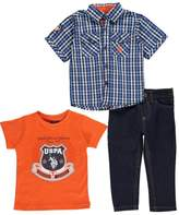 """U.S. Polo Assn. Baby Boys' """"Premiere"""" 3-Piece Outfit"""