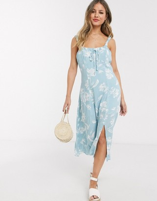 Gilli midi dress in blue floral