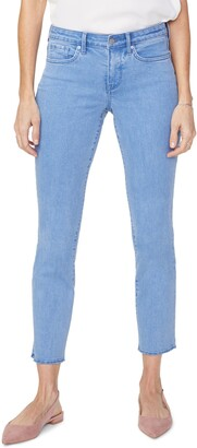 NYDJ Sheri Raw Hem Slim Ankle Jeans