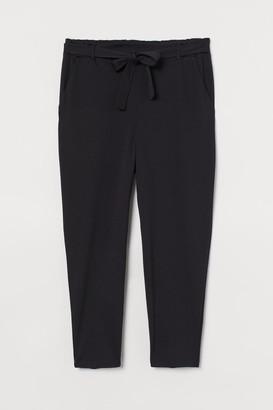 H&M H&M+ Jersey Paper-bag Pants - Black