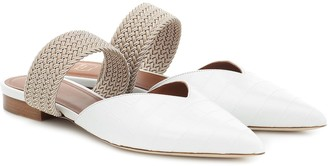 Malone Souliers Maisie croc-effect leather slippers