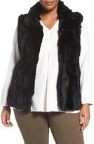 Blue Duck Plus Size Women's Trading Genuine Rabbit Fur Vest