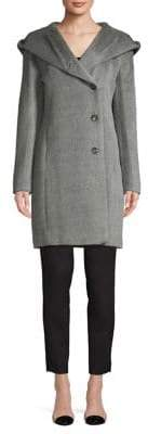 Cole Haan Hooded Wool-Blend Coat