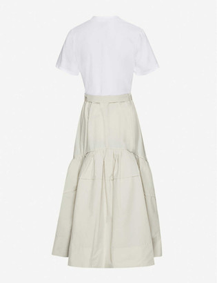 3.1 Phillip Lim Belted cotton-jersey and cotton-blend midi dress