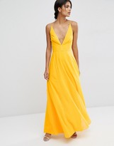 Asos Deep Plunge Cami Maxi Dress