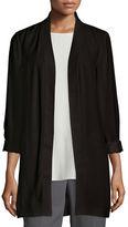Eileen Fisher Silk Georgette Kimono Jacket, Petite