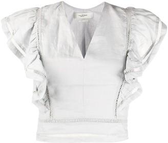 Etoile Isabel Marant April ruffled linen blouse